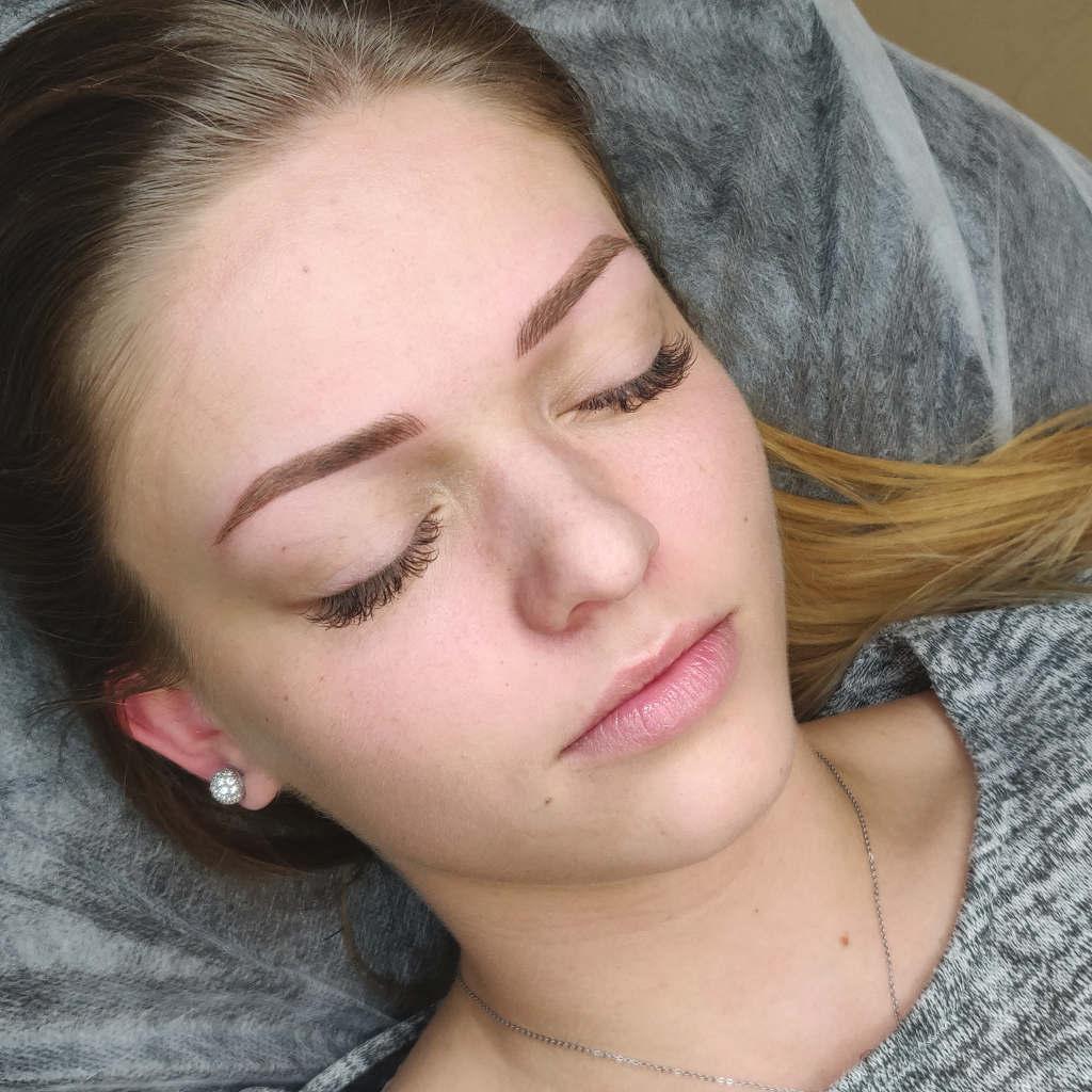 makijażu permanentnego efekt